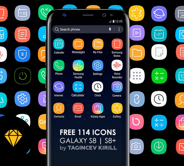 144 Free Icons Galaxy S8 S8 Sketch Download Link Freebiesui