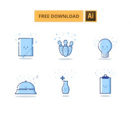 6 Cute MBE Style Icons for Illustrator - Free Resource