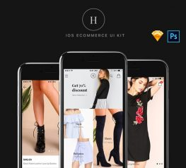 Helen iOS eCommerce UI Kit for Sketch and Photoshop - Fashion App Design Freebie