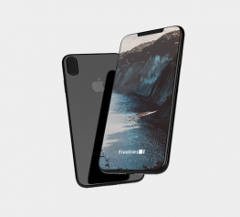 iPhone 8 Floating Mockup PSD - Dark Iphone 8 Mock-up