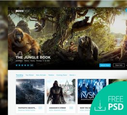 MovieRise Web Homepage for Photoshop Designer - Watch Movies Online Template