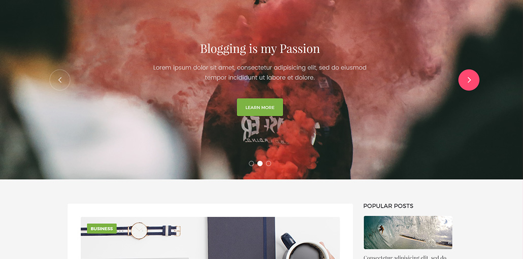 MYBLOG Free Blog Template for Photoshop Designers