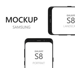 Galaxy S8 Device Mockup in SVG Vector Format - Freebie