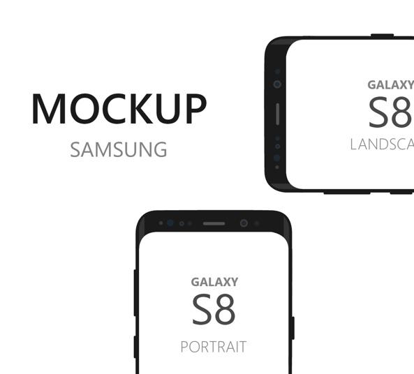 galaxy s8 device mockup
