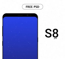 Galaxy S8 Flat Mockup Free PSD Resource for UI UX Designers