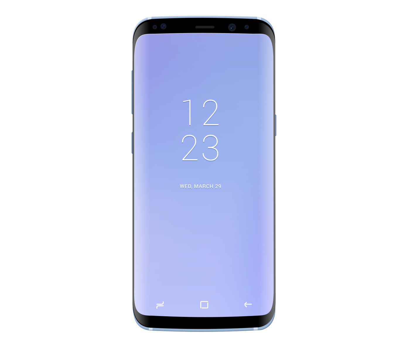 Samsung Galaxy S8 Coral Blue Mockup for Photoshop