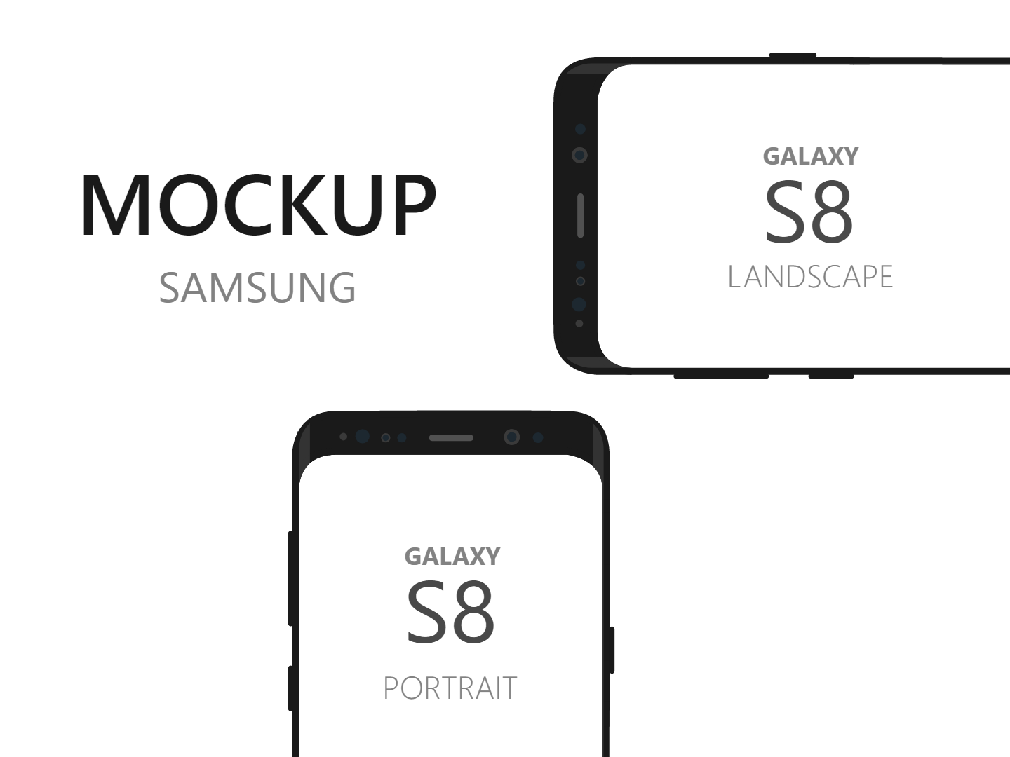 Samsung Galaxy S8 Device Mockup in SVG Format - Free Download Vector