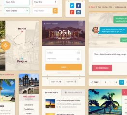 Summer Free UI Kit for PSD and Sketch