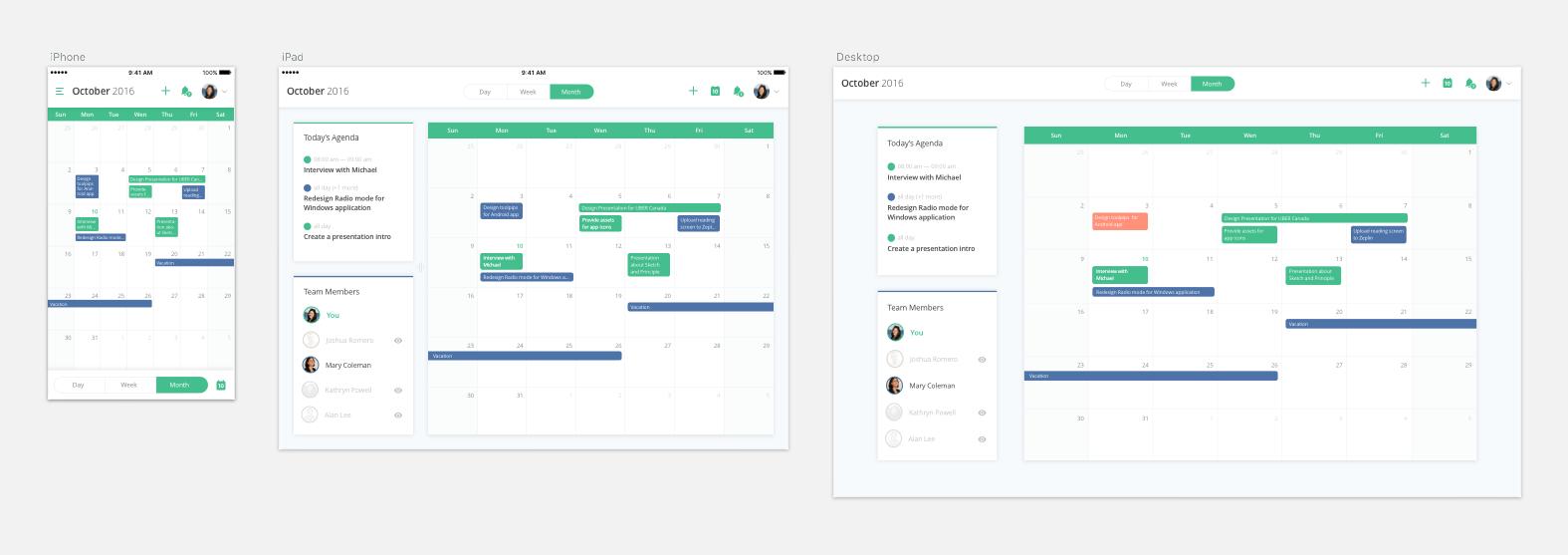TaskDo Calendar App UI Kit - Free Sketch Download Link - FreebiesUI