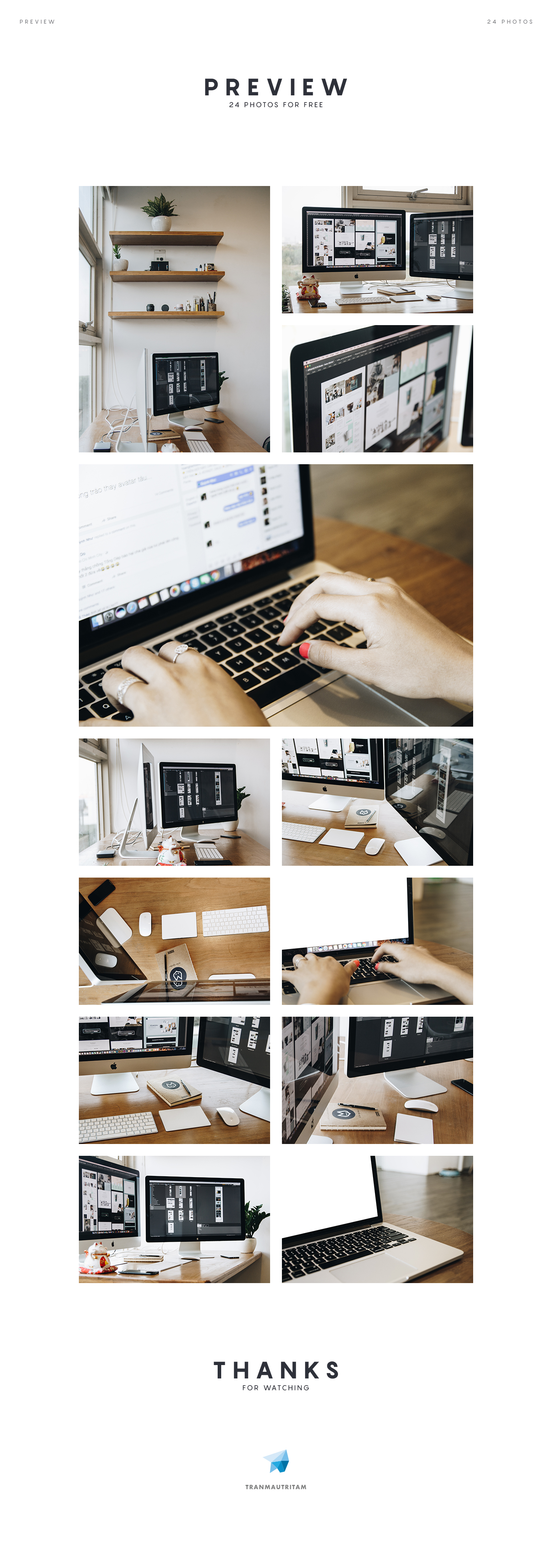 24 Workspace Free Photos for Web Designers and Developers