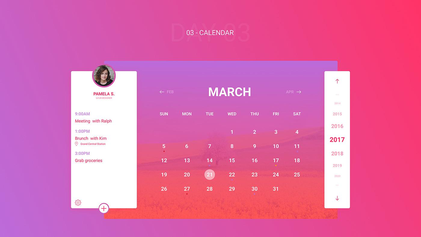 Free Figma UI Kit - Calendar