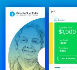 SBI Banking App Concept UI Kit for Xd Designers