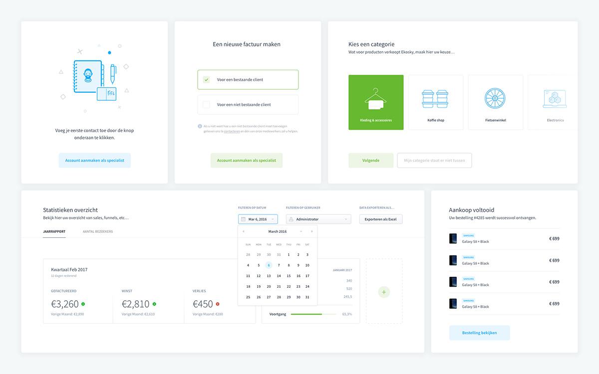 Dashboard UI elements for Sketch Designers