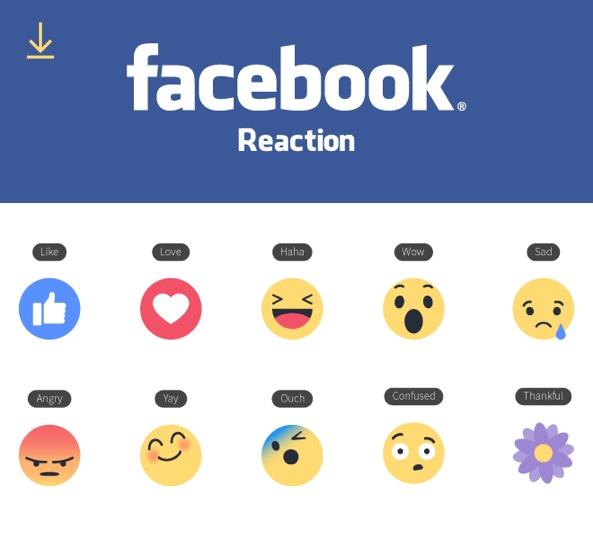 Facebook Emoji Reactions - Vector Icons for Illustrator