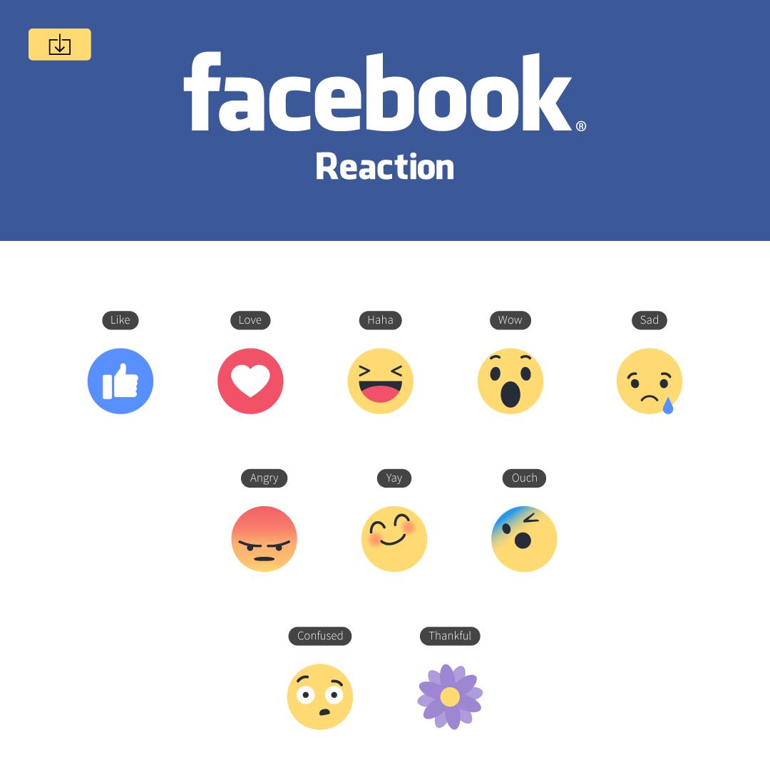 Mockup App Facebook Emoji Reactions Vector Icons For Illustrator