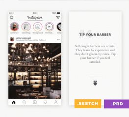 Instagram Stories UI Kit for Sketch and Principle