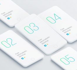 iphone minimalist mockup for psd designers - white apple devices