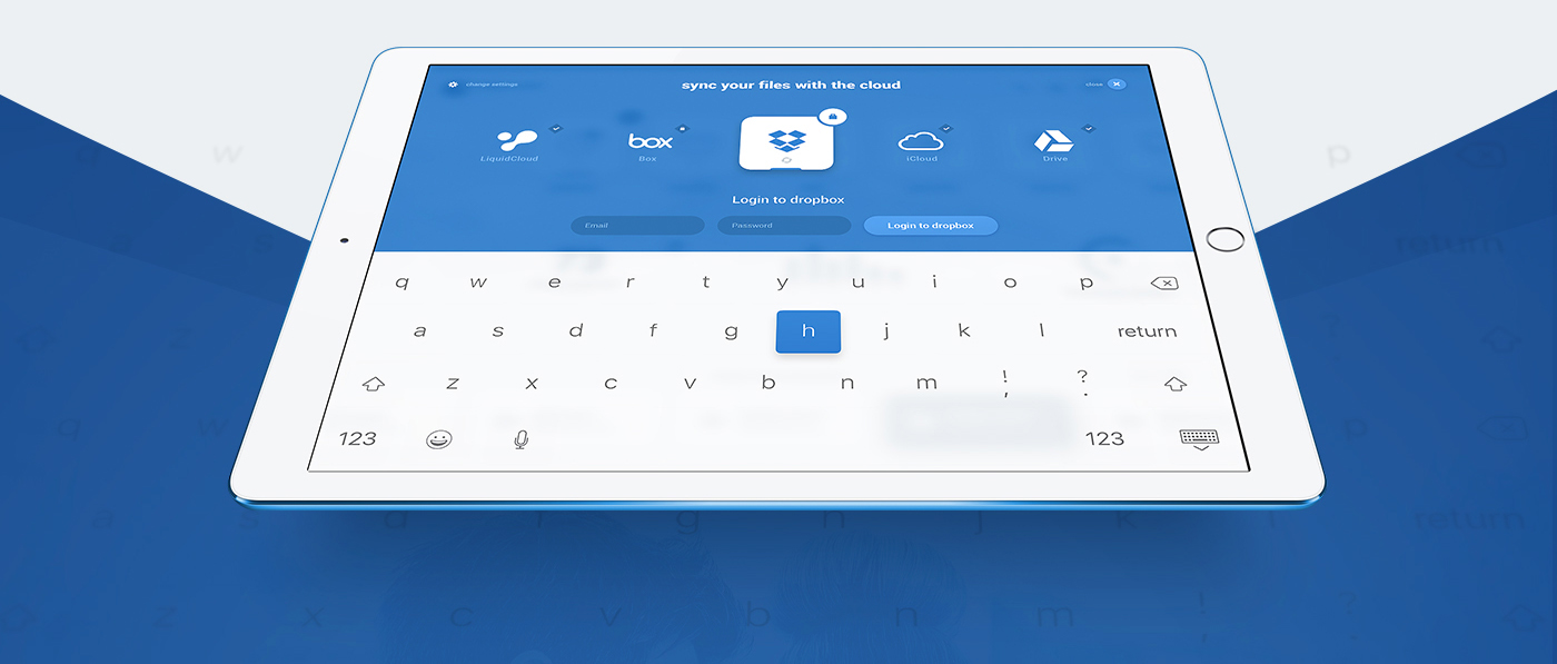 Liquid Pro Tablet Blue Experience Icons - Free PSD