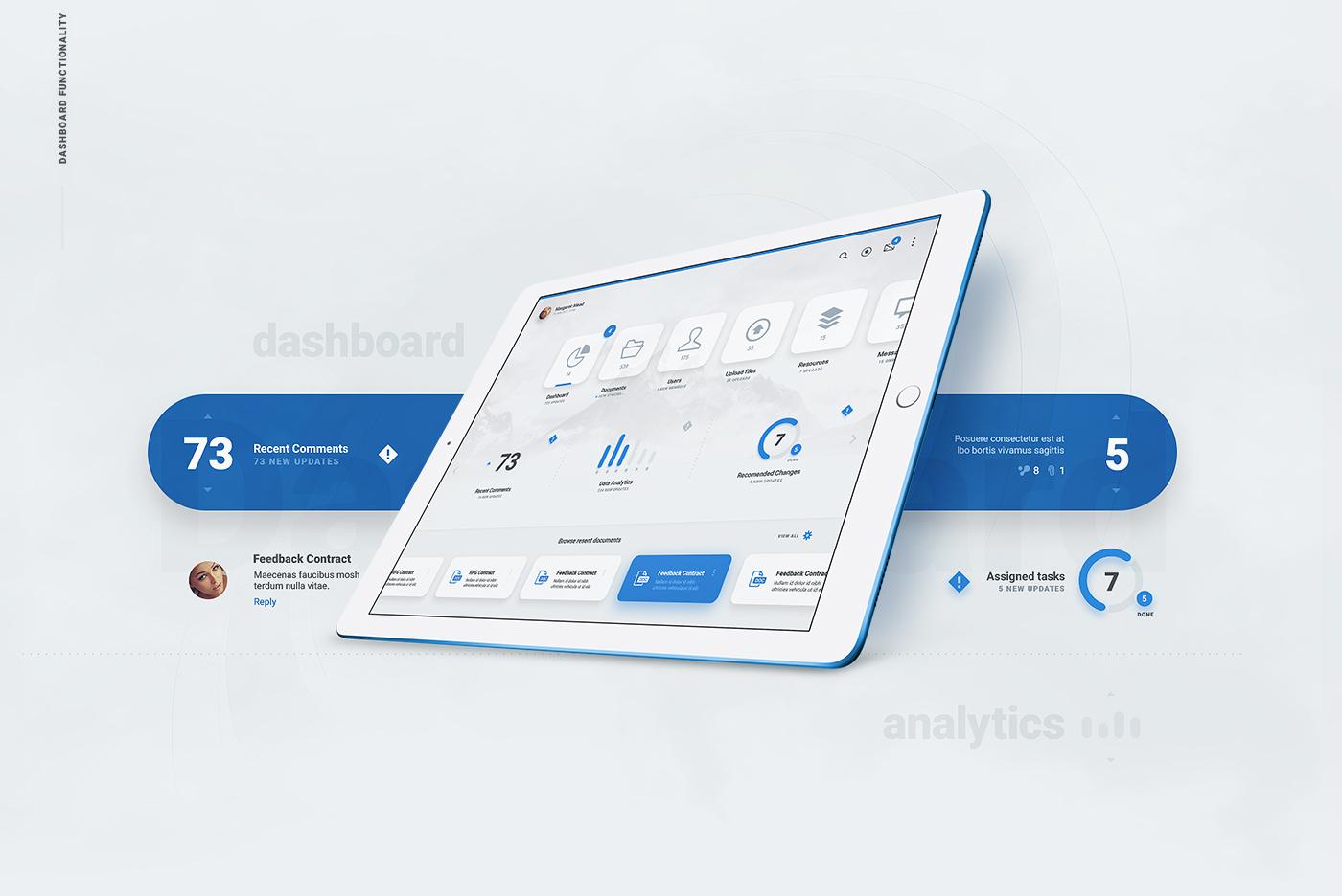 Liquid Pro UI Kit - Tablet Reading Experience PSD - Blue