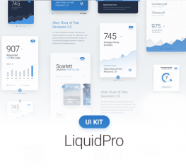 LiquidPro UI Kit App Design for PSD - Reading Experience Design Resource