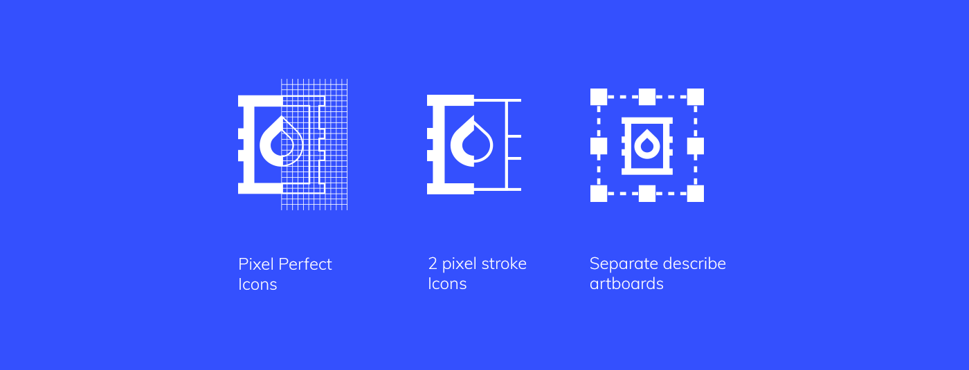 98 UI Pixel Perfect Icons Set - 2 pixel stroke icons