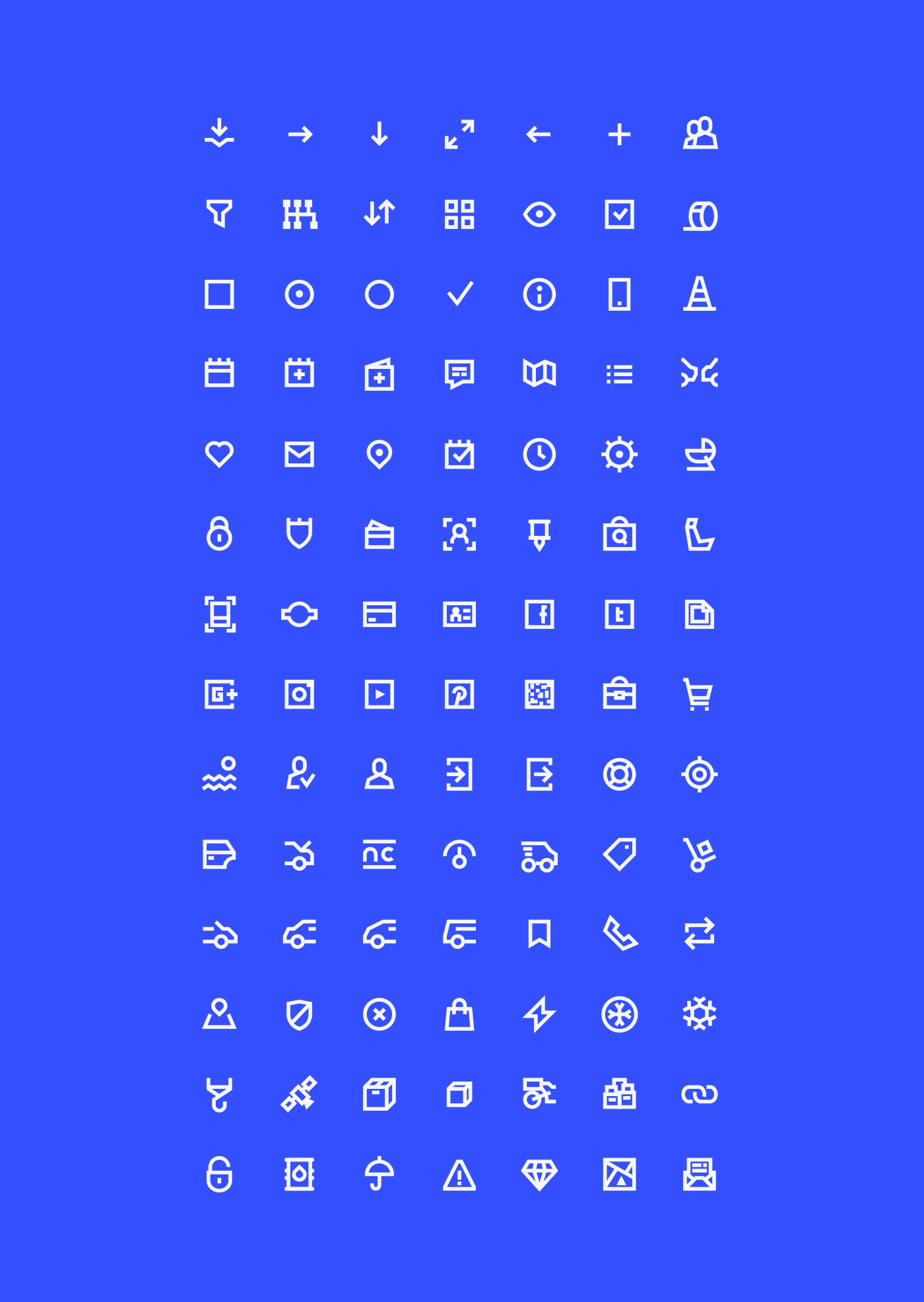 98 UI Pixel Perfect Icons Set - Basic Pack