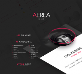 Aerea UI Kit +50 Elements for PSD