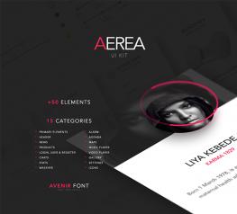 Aerea UI Kit +50 Elements for PSD