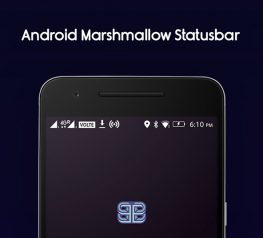 Android 6.0 Marshmallow Status Bar Icons for PSD