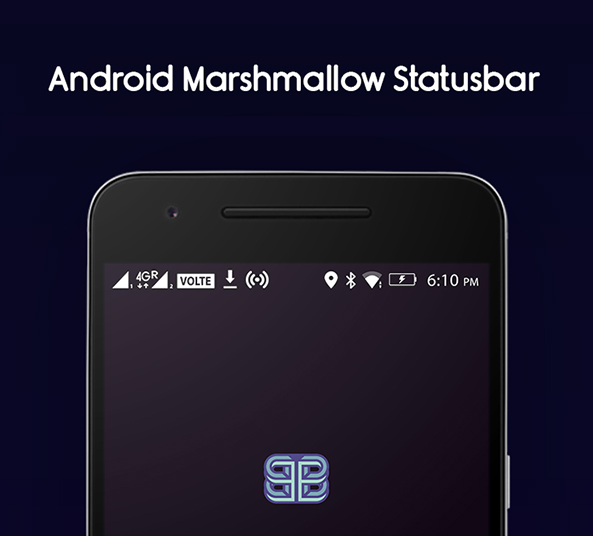 android marshmallow icons - statusbar free psd