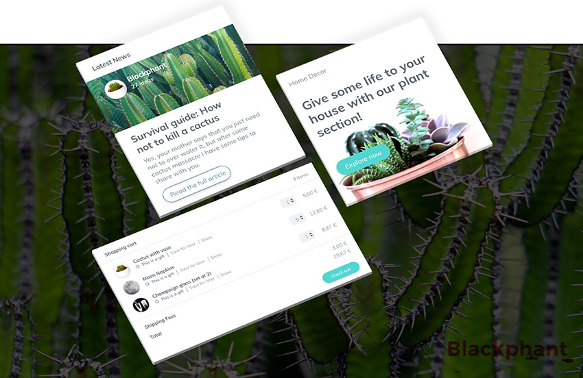 Cactaceae Free Web UI Kit - Adobe Xd forms