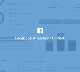 Facebook Analytics Free UI Kit for Sketch