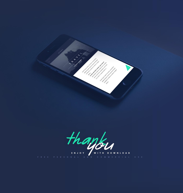 Elegant UI Kit for PSD - App Design Fade