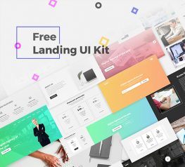 Free Landing Page UI Kit for PSD Designers 2017