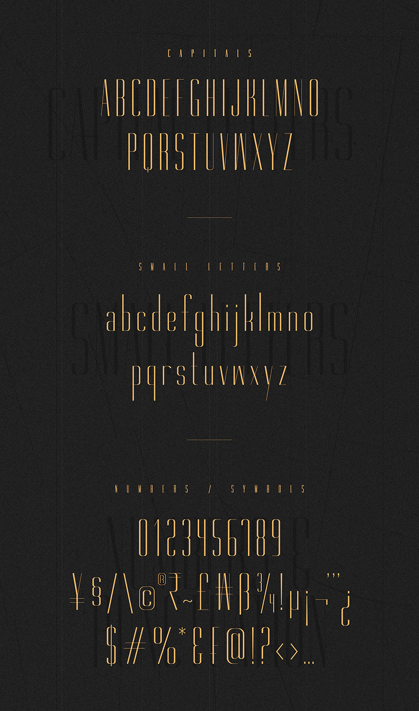 Gorgeous Free Typeface - 12 weights