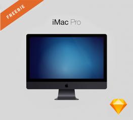 iMac Pro Free Mockup for Sketch designers