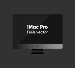 iMac Pro Free Vector Mockup for AI