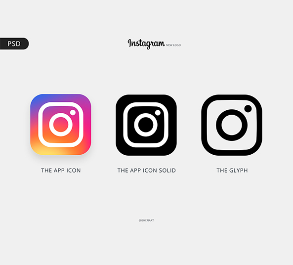 Instagram Logo And Color Pallete Free Psd Download Freebiesui