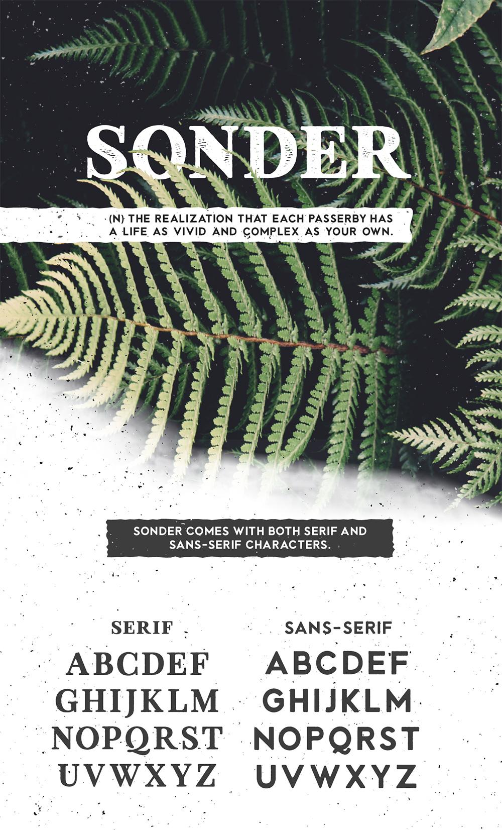 Sonder Free Type Family - Vintage Adventure Font