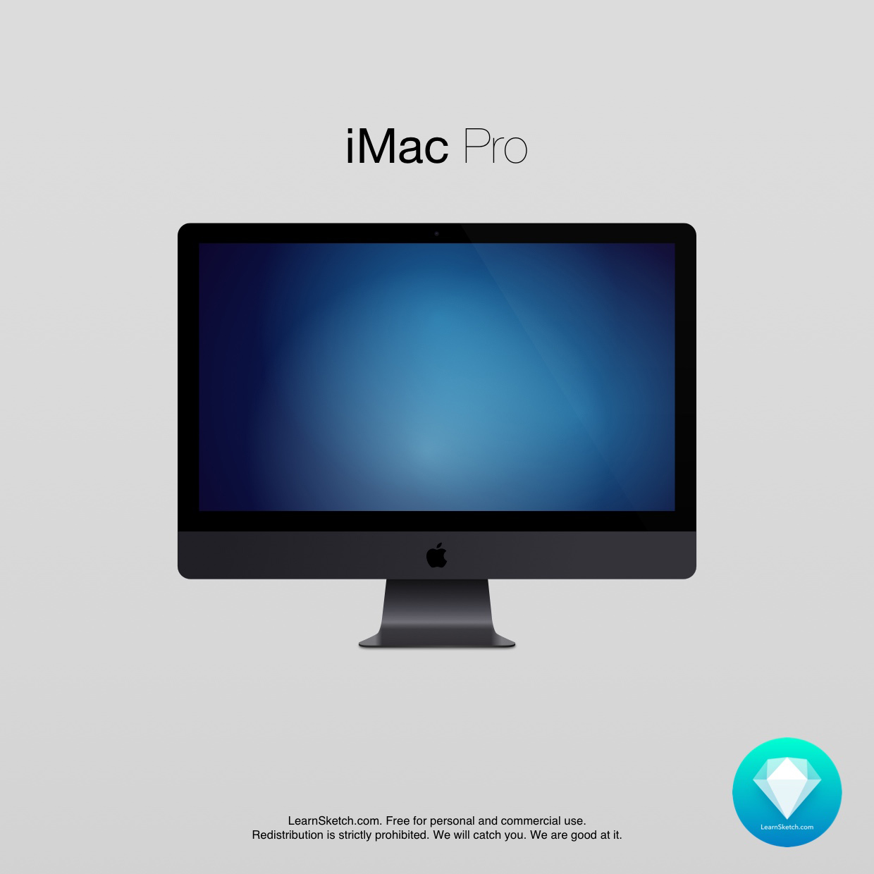 iMac Pro Free Vector Resource for Sketch
