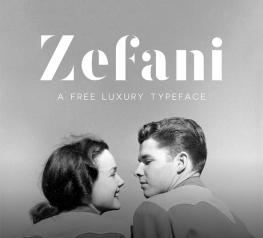 Zefani Free Luxury Typeface