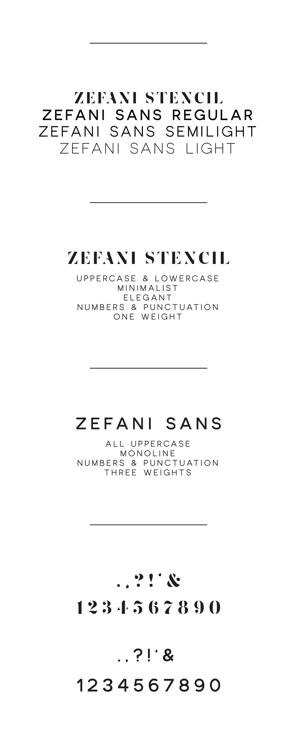 Zefani Free Type Family - An elegant free typeface