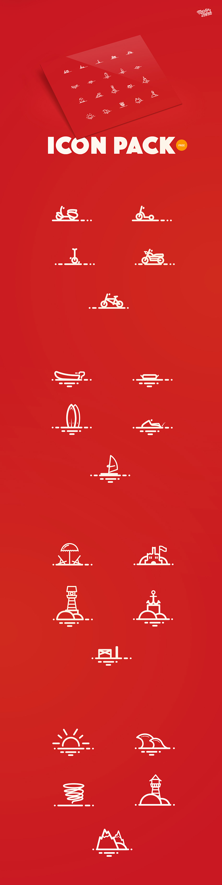 Action Holidays Icon Pack - Summer Activities Icons