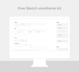 Free Sketch Wireframe UI Kit for UI UX Designers