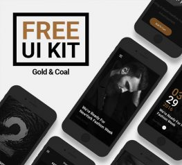 Gold & Coal Free UI Kit for Photoshop - UI Resource for Android and IOS