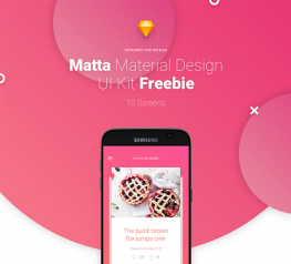 Matta Free App Design UI Kit for Sketch Designers - 10 Screens