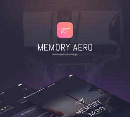 Memory Aero App Design UI Kit for Sketch Community