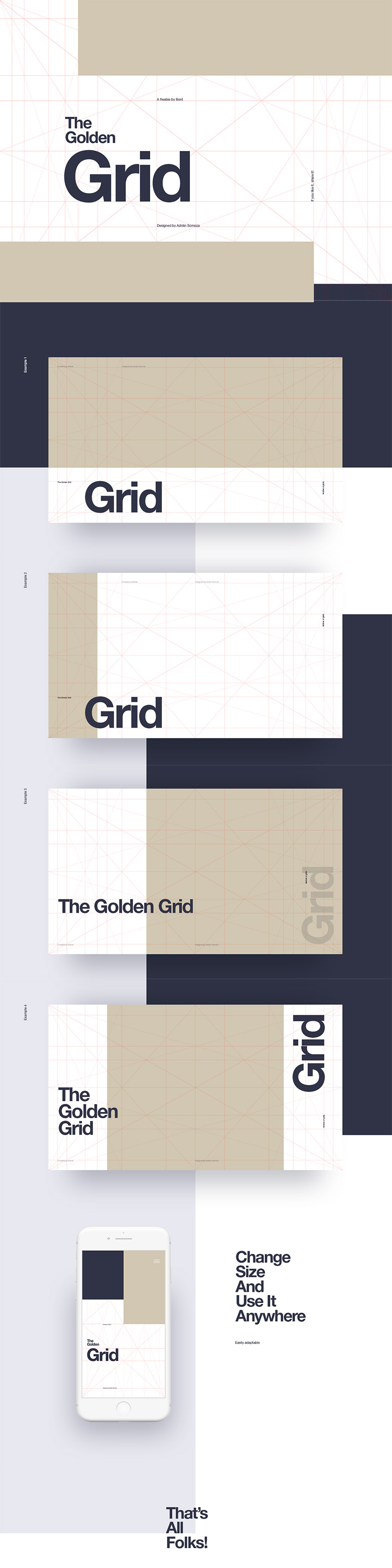 Goldern Ratio Grid Freebie for PSD