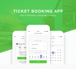 Ticket Booking App Design for Xd