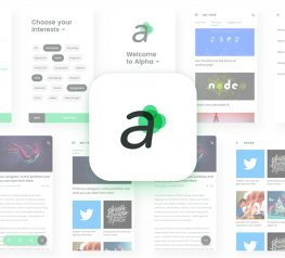 Alpha Free App Design UI Kit - Sketch Resource
